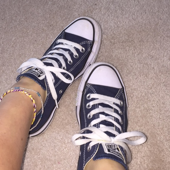 womens navy blue converse shoes,Free